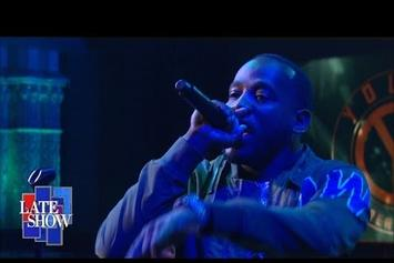 """Young Greatness Performs """"Moolah"""" On Colbert"""