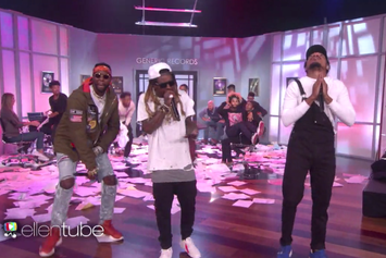 "Chance The Rapper, Lil Wayne & 2 Chainz Perform ""No Problem"" On Ellen"