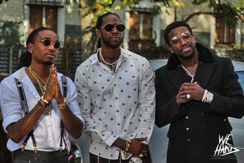 "BTS Pics Of 2 Chainz's ""Good Drank"" Video With Quavo & Gucci Mane"