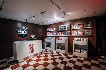 """Nike Basketball Introduces Ky's Records Shop In Honor Of The """"Warning"""" Kyrie 3"""