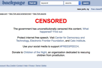 Backpage Shuts Down Its Adult Section In Response To Government Pressure