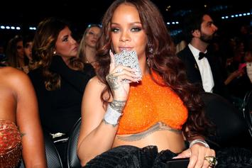 Rihanna's Bedazzled Flask At The Grammys Got Twitter Abuzz