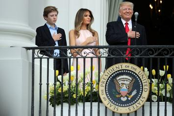 Melania Trump Has To Remind Donald Trump To Put Hand Over Heart During National Anthem