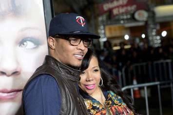 T.I. Wishes Tiny A Happy Wedding Anniversary, Shares Wedding Pictures