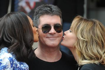 "Simon Cowell Shades Mel B On ""AGT,"" Get Water Thrown At Him"