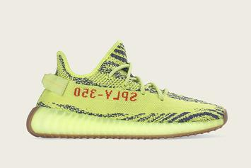 """Adidas Unveils """"Semi-Frozen Yellow"""" Yeezy Boost 350 V2: Official Images"""