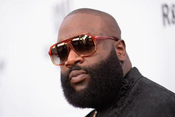 Rick Ross & DJ Khaled Hang With Fans At Local Miami Burger Joint