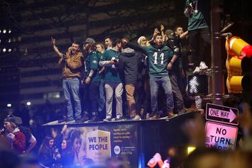 Philadelphia Eagles Fans Riot In Streets Of Philly After Super Bowl Victory