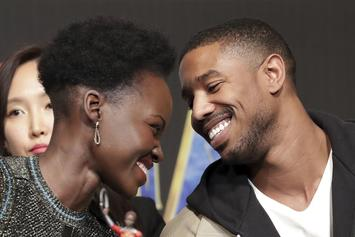 Michael B. Jordan & Lupita Nyong'o Are Very Flirty In New Video