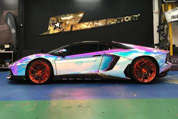 Someone Customized Their Lamborghini Aventador With Holographic Wrapping