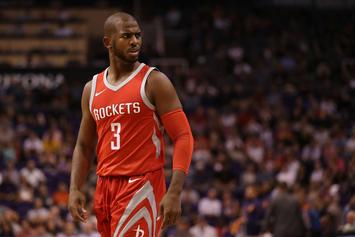 Chris Paul Gets Called For Turnover After High-Fiving Harden's Mom
