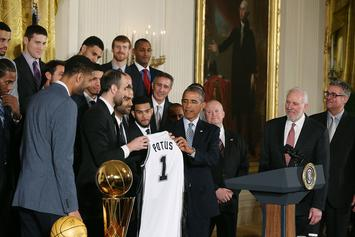 Barack Obama Plays For San Antonio Spurs In His Ideal NBA Fantasy