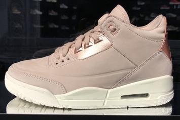 """Rose Gold"" Air Jordan 3 Surfaces: First Look"