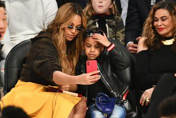 Beyonce & Blue Ivy Enjoy Mother-Daughter Time Courtside At All-Star Game