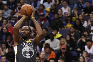 Kevin Durant Gives His Game Worn Jersey To Quavo After Beating Hawks
