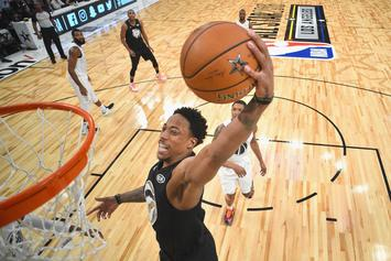 Demar Derozan Nearly Decapitates Anthony Tolliver With Dunk