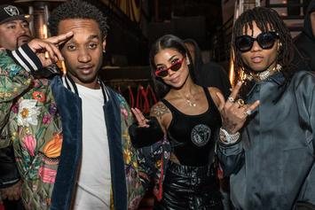 "Jhene Aiko & Rae Sremmurd Perform ""Sativa"" On A Jungle Filled Stage"