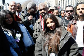 "Kanye West, Common, Vic Mensa Attend ""March For Our Lives"" In DC"