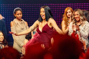 "Cardi B Debuts Baby Bump During ""SNL"" Performance"