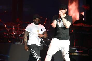 "50 Cent Declares Eminem His ""Favorite White Boy"" In Joint Photo"