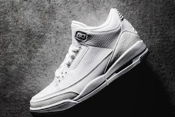 "Air Jordan 3 ""Pure White"" New Images Surface"