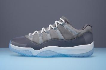 "Air Jordan 11 Low ""Cool Grey"" Makes Retail Debut This Weekend"