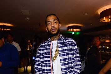 "Nipsey Hussle Shows Kanye West's ""MAGA"" Selfie During ""FDT"" Performance"