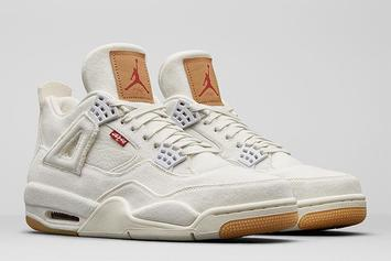 Levi's x Air Jordan 4 Releasing In Black And White Colorways Tomorrow