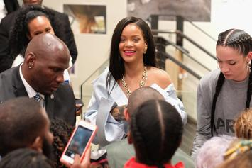 "Rihanna Turns Up To Rich The Kid's ""Plug Walk"" With Fans At Her Stance Foundation"