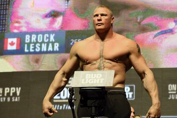 "Brock Lesnar ""Very Interested"" In Fighting Jon Jones"