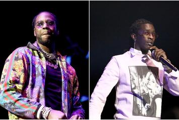 "2 Chainz & Young Thug Link Up For Some ""Studio Vibes"""
