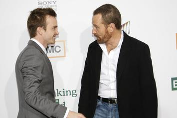 """Breaking Bad's"" Bryan Cranston & Aaron Paul Reunite For Show's 10th Anniversary"
