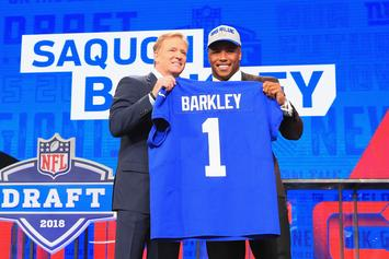 Saquon Barkley Signs $31.2 Million Rookie Deal With Giants: Report