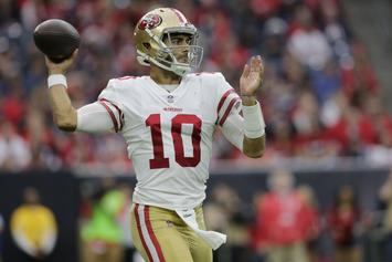 """Jimmy Garoppolo Dishes On Kiara Mia Date: """"It's A Good Learning Experience"""""""