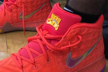 "Kyrie Irving Debuts ""Lucky Charms"" Nike Kyrie 4"