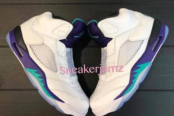 """Fresh Prince"" Grape Air Jordan 5s Coming Soon: First Look"