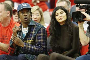 Kylie Jenner & Travis Scott Looked Bored AF During J Lo's VMA Performance