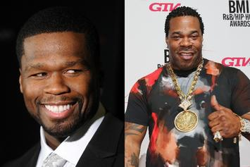 """50 Cent Clowns Busta Rhymes' Physique: """"Strongest Neck In Hip Hop"""""""