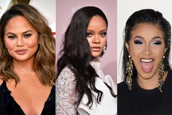 """Chrissy Teigen Says Threesome With Cardi B & Rihanna Would Be """"Ideal"""""""