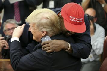 "Kanye West Gives ""Keynote"" Speech At Apple Store, Trump Wore Altered ""MAG"" Hat"