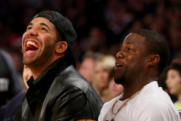 Drake Catches Up With Kevin Hart Backstage At L.A. Tour Stop