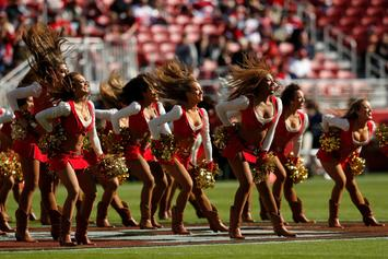 49ers Cheerleader Kneels During Anthem Before Thursday Night Football Game
