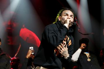 "6ix9ine Shows Off New ""Brooklyn"" Face Tattoo"