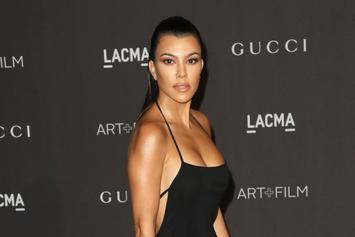 Kourtney Kardashian Lounges Next To Her Ex, Scott Disick, In A Gucci Cut-Out Dress