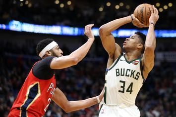 Giannis Antetokounmpo Breaks Character, Recruits Anthony Davis After Win