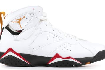 "a4e59fa1157 Air Jordan 7 ""Cardinal"" Returning With New Reflective Detailing · SNEAKERS  · Air Jordan 7 "" ..."