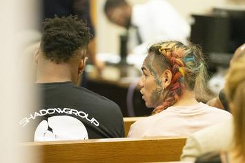 Tekashi 6ix9ine Cant Keep His Hands Off His Girlfriend In First Jail Photo