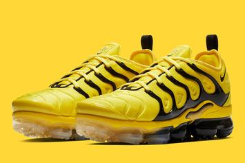 "Nike Vapormax Plus ""Yellow/Black"" Images Revealed"
