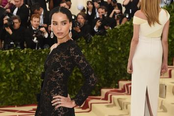 Zoe Kravitz Gets Cheeky With A Peach In Topless Shoot