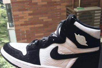 """Air Jordan 1 """"Black And White"""" With Pony Hair Image Surfaces"""